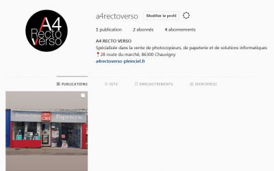 Nouvelle page Instagram !